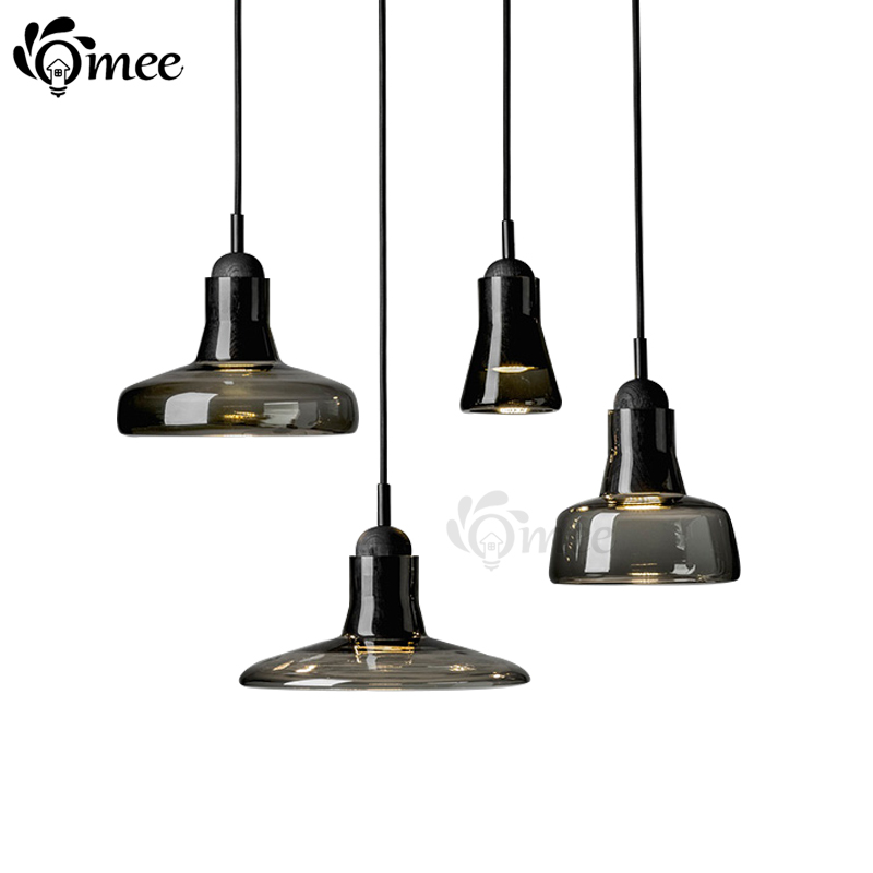 E27 Modern brokis ABCD shadows led crystal Pendant lamp free combination glass smoky gray pendant light - E-Light lighting Most Fast Newest items store