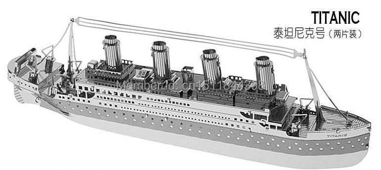 Free Shipping 3D Metal Ship Model Titanic Model Nano Puzzle DIY Puzzle WO001(China (Mainland))