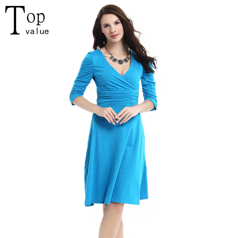 Vestidos 2016 Spring New Fashion Women Summer Sexy V-NecK Wrap Robe Casual Brief A-Line Regular Solid Office Work Dress(China (Mainland))