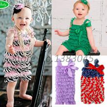 Baby Toddler Girls Lace Ruffle Petti Romper Newborn Infant Ribbon Bow Jumpsuit(China (Mainland))