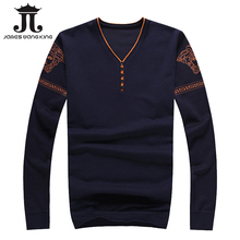 New 2016 Pullover men sweater V-neck long sleeve casual elasticity mens Thin sweaters brand gym clothing pull homme marque 9005(China (Mainland))