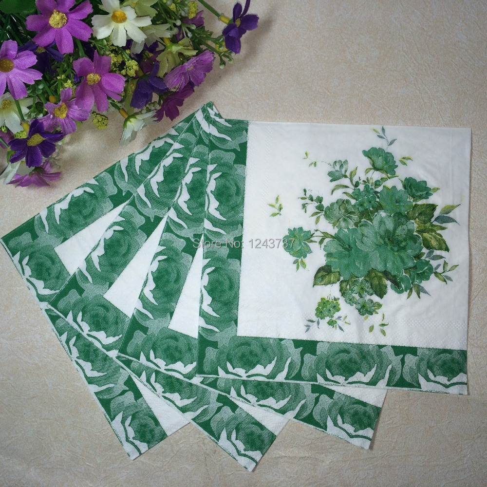 2015 seconds kill souvenirs festive supplies shipping flower paper napkins party paper napkin pattern 36, 100% pure wood pulp(China (Mainland))