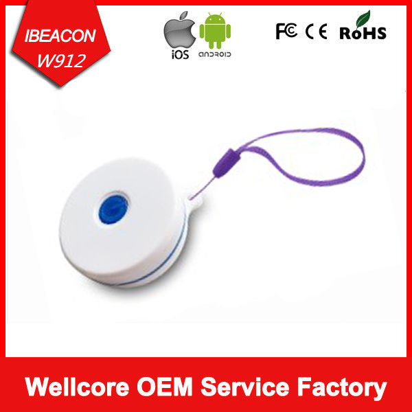 Free Shipping Nordic Ibeacons Waterproof Ibeacon nRF51822 Outdoor Use ibeacon with Power Button and LED Battery