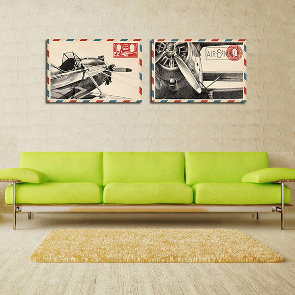 modern wall painting head rudder aircraft envelope home Decorative Art Picture Paint Canvas Prints 40*50#paint-2023
