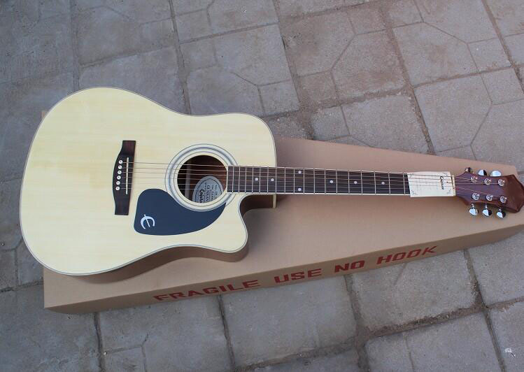 New arrival DR-200 missing Angle 41 inch folk missing Angle EPI acoustic guitar can add pick up 0425(China (Mainland))