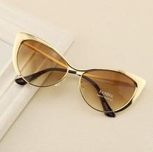 Fashion Metal Super Cute Sun glasses Cat eyes Women Sunglasses Designer High Quality Vintage Retro Glasses Gafas oculos De Sol(China (Mainland))