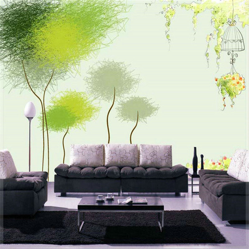 Chinese wallpaper murals 1 square meter wall painting for Gold wallpaper living room