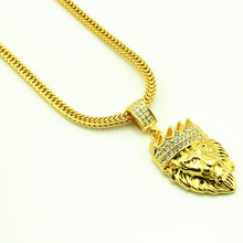 Buy Hiphop Gold Chain Lion King Maxi Necklace Statement Necklaces Male Friendship Neckless Collier Femme Collar Bling Bling Jewlry for $8.38 in AliExpress store