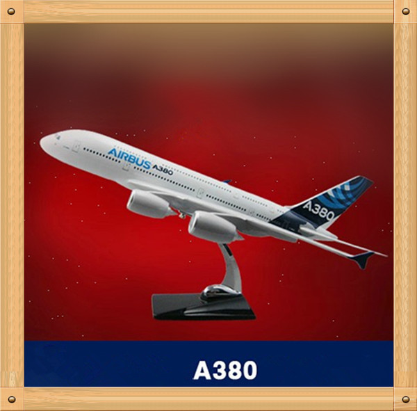 45cm Resin Airplane Model A380 Aircraft Home Decoration(China (Mainland))