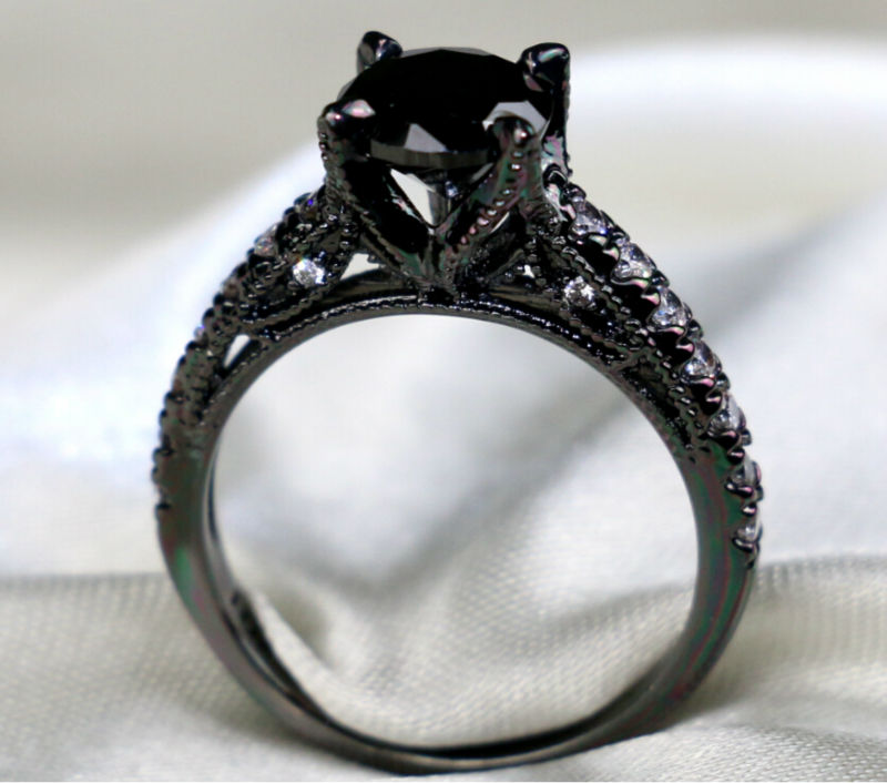 popular onyx engagement rings buy cheap onyx engagement With onyx wedding ring sets