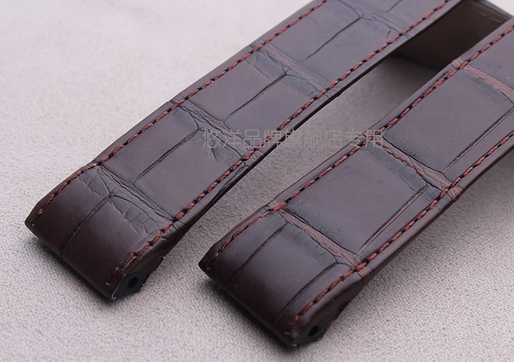 Youyang кожи аллигатора ремешок для часов заменой сантос 100 мягкая стильный высокого класса 23 мм