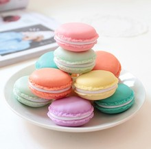 6pcs Candy Color Mini Macaron Gift Box Cosmetic Case Storage Boxes Makeup Organzier Empty Plastic Cosmetic Container(China (Mainland))