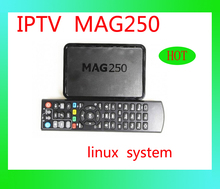 European hot sale mag250 linux system iptv set top box satellite hd receiver support lan WIFI youtube youporn w/o account DHL