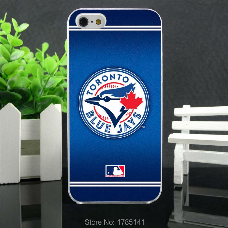 1pcs MLB Toronto Blue Jays hard white Skin Case for iphone 5 5s 4 4g 4S 5c Retail(China (Mainland))
