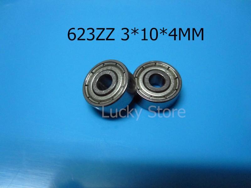 623z abec-5 chrome стальные подшипники 10шт металлический герметичный миниатюрные подшипники 623 623z 623zz 3 * 10 * 4 мм