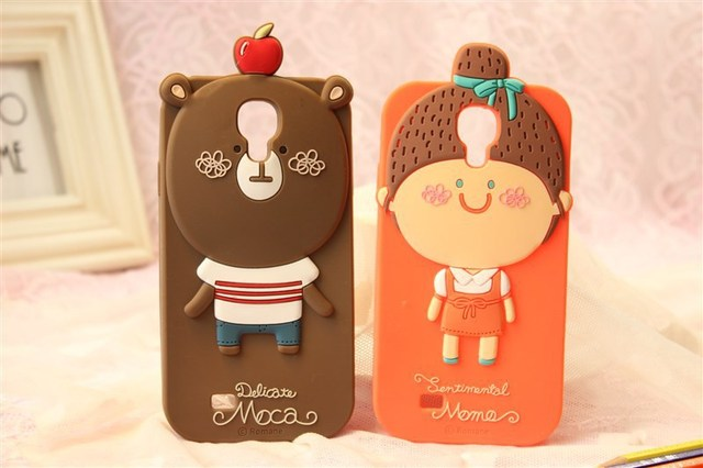 MOMO's Blog 3D Cute Cartoon Silicone Case Cover For Samsung Galaxy S4 I9500 ,retail package Free Shipping 10pcs/lot