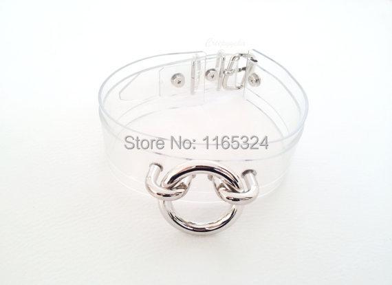Top Sexy Punk Rock Harajuku 100 Handmade Clear transparent Layered O Round Choker Collar Necklace fashion