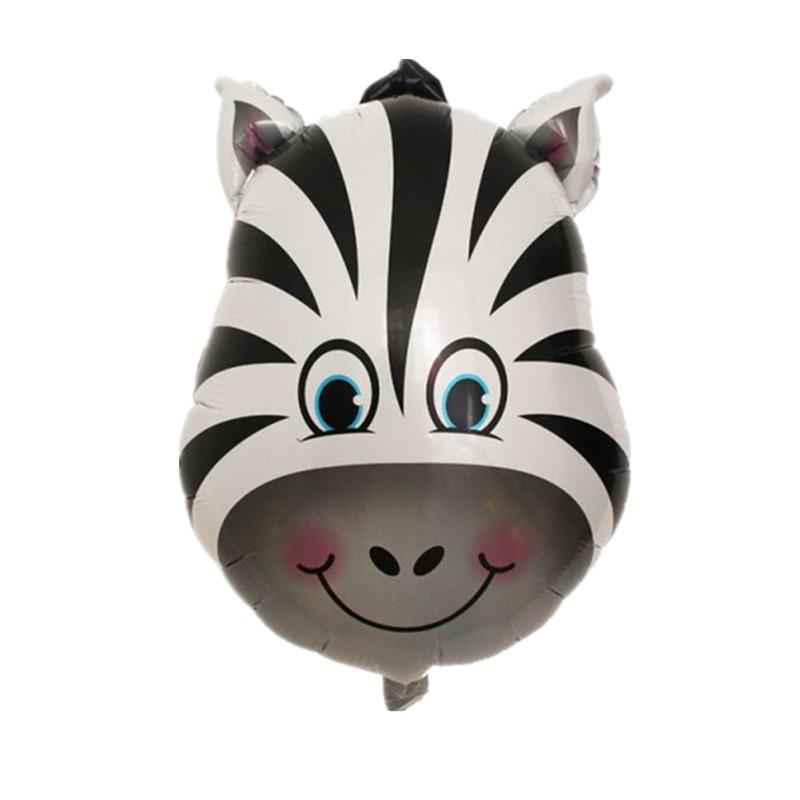 Бесплатная доставка новый зебра мини глава алюминиевые воздушные шары день рождения ну вечеринку шары оптовая продажа