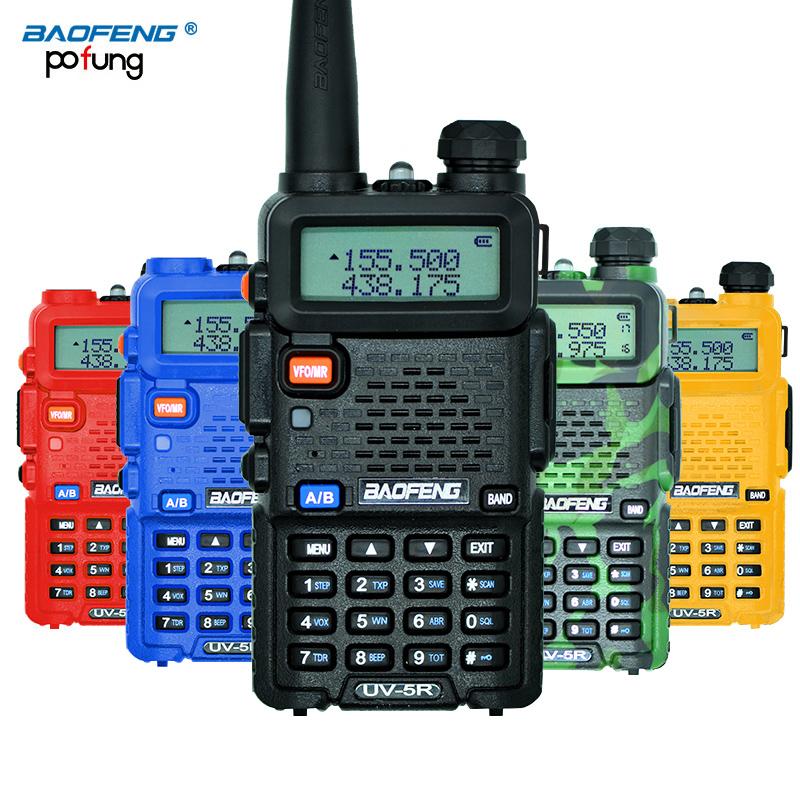 BaoFeng UV-5R Walkie Talkie Professional CB Radio Baofeng UV5R Transceiver 128CH 5W VHF&UHF Handheld UV 5R For Hunting Radio(China (Mainland))