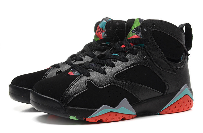 Free Shipping 2015 China Jordan Sneakers Shoes men'sbasketball shoes retro 7 shoes blue black(China (Mainland))