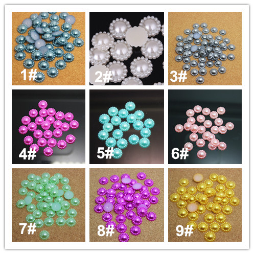 Free Shipping! 12mm resin ABS imtation pearl Sunflower flatback cabochon for DIY scrapbooking,many colors to choose,(China (Mainland))