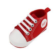 Zapatos antideslizantes de suela suave para niños y niñas recién nacidos de lona clásica(China)