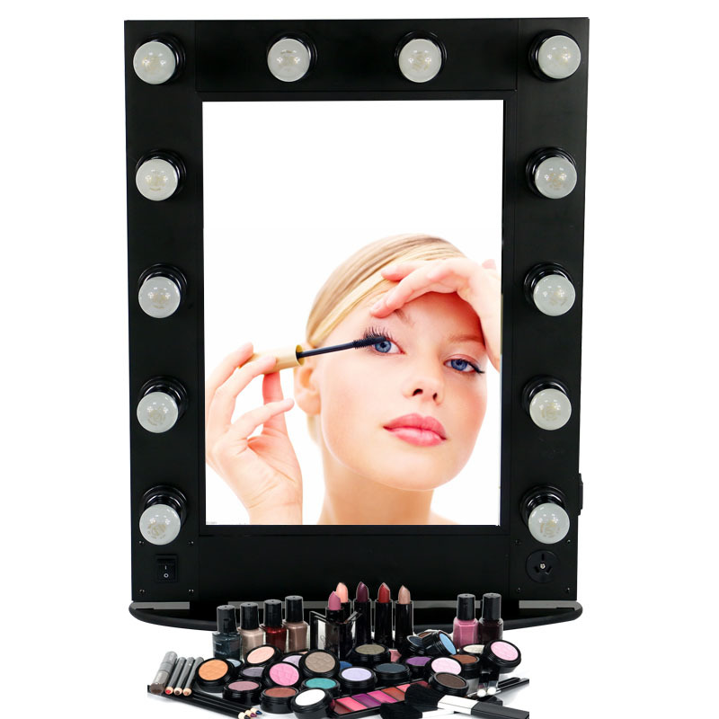 makeup mirror with lights 12pcs light bulb artist cosmetic mirror. Black Bedroom Furniture Sets. Home Design Ideas