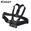 SHOOT Adjustable Chest Strap For Gopro Hero 4 3 3 4 Session SJCAM SJ4000 SJ5000 Xiaoyi