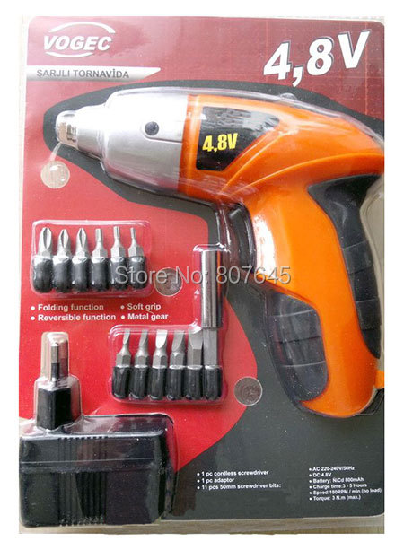 4 8V rechargeable electric screwdriver small Drill Driver Cordless sleeve Power Tools cordless drill electric drill