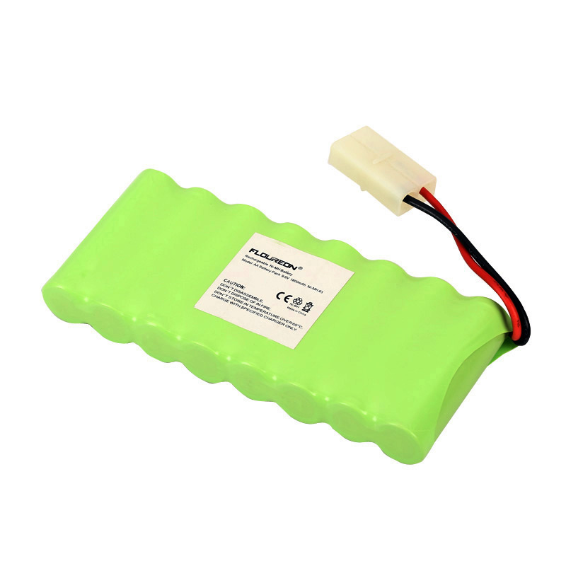 Rc Toy Spare Parts For FLOUREON 8AA Ni-MH Battery With Tamiya Connector for RC Cars Boat 9.6V 1800mAh Fruit Green(China (Mainland))