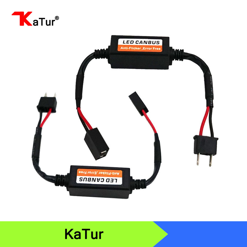 2pcs H7 Led Headlight Canbus Decoder Error Free Anti Flicker CANBUS Wire H1 H3 H4 H11 H13 880 9004 9005 9006 9007 Fog Lamp