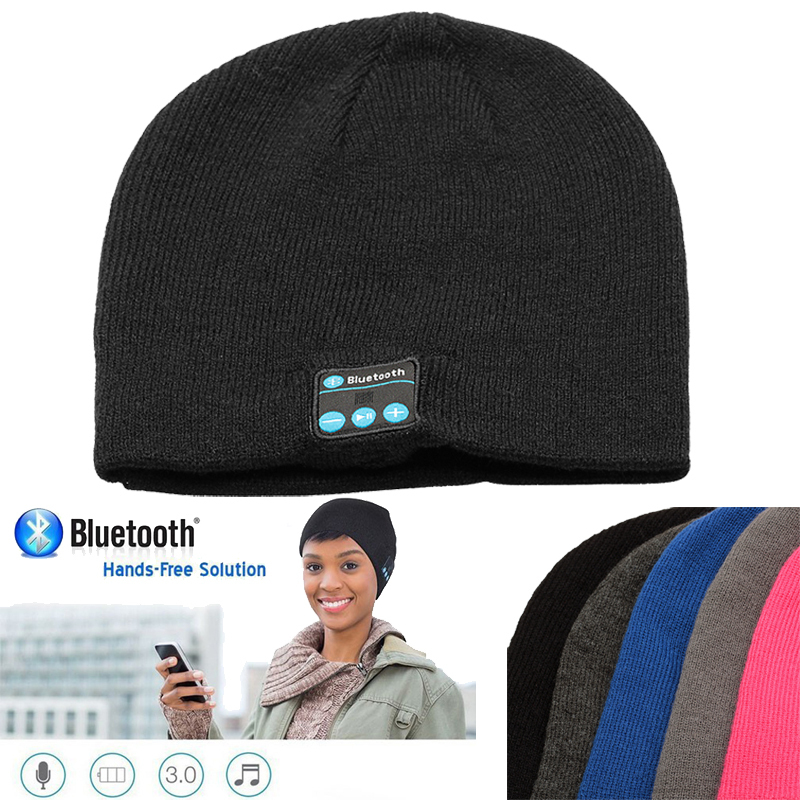 2015 Wireless Bluetooth Music Hat Headset Handsfree Mp3 Headphone Winter Knitted Hat Magic Sports Hats for everyone(China (Mainland))