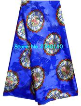 (5 yards) light chiffon Sheer fabric for beach dress scarfs Blue color floral print chiffon burnt-out raw silk!ZS67LH(China (Mainland))