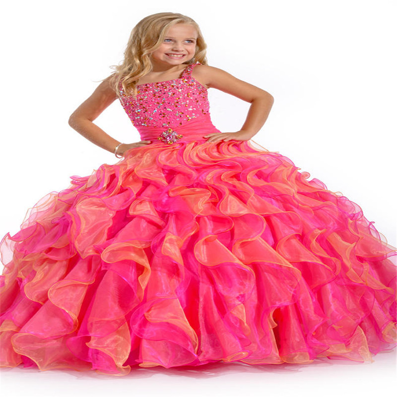 Popular Pink and Orange Kid Dress-Buy Cheap Pink and Orange Kid ...