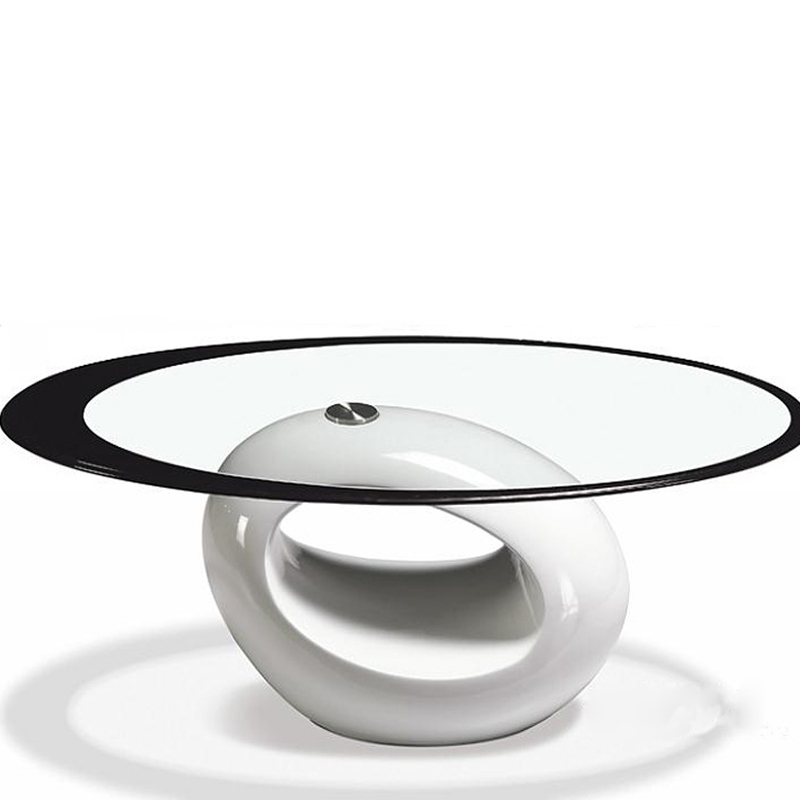 Tempered Glass Minimalist Modern Oval Coffee Table Modern Glass Coffee Table Coffee Table Small