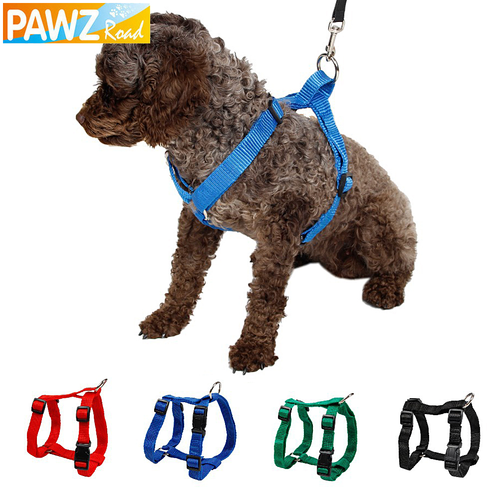 Pet Harness Nylon Adjustable Safety Control Restraint Cat Puppy Dog Harness Soft Walk Vest Large Dog Blue Red Black Green(China (Mainland))