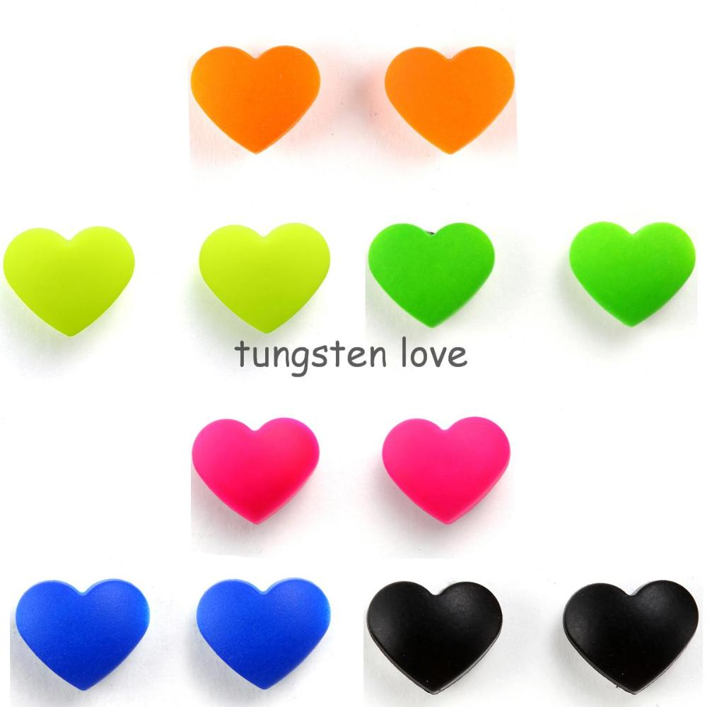 New Arrivals Love Heart Shape Magnetic Earrings Fake Lip Ring Ear Studs For Women No Piercing Colors Selectable(China (Mainland))