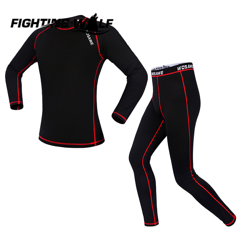 Outdoor Base Layer Long Sleeve Sports Riding Running Training T Shirts Mountain Bicycle Cycling Jersey Long Sleeve + Pants Set
