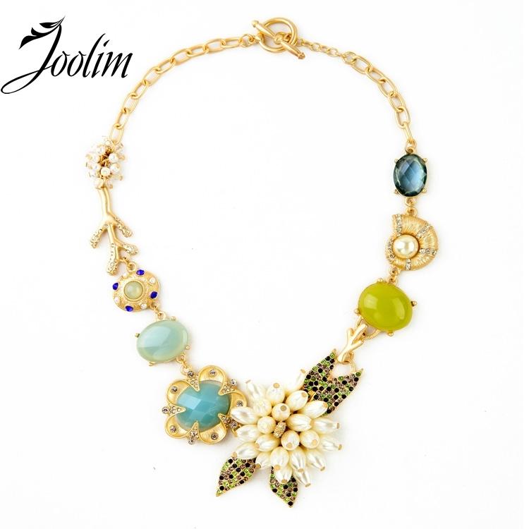 2013 new luxury flower statement chokers necklace designer jewelry