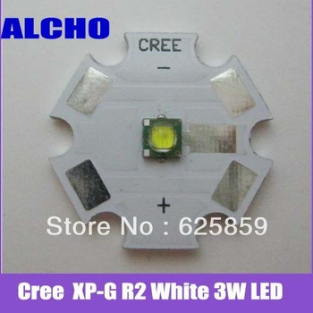 Free shipping Cree Single-die XP-G R2 White 3W LED Light Emitter with 20mm Star PCB For DIY
