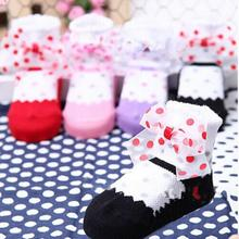 Factory Price Child Kid Girls Polka Dots Cotton Socks Child Socks Anti Slip Ankle Socks