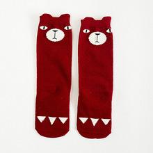 Brand Designer Soft Cotton Children Socks Casual School Boys Girls Socks Kawaii Kids Knee Socks Christmas Gift For Your Baby(China (Mainland))