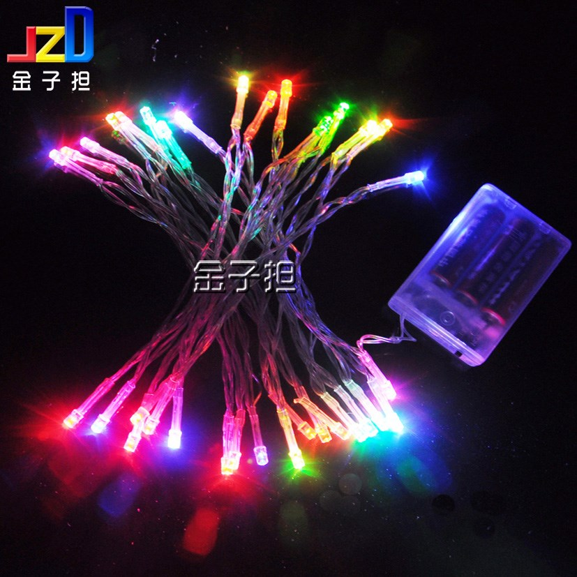 Led battery lighting string christmas lights battery box lantern wedding car decoration low ...