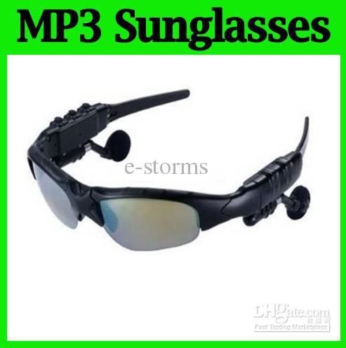 Wholesale 2GB 4GB Headphone without bluetooth MP3 Sunglasses glasses Mp3 Player 20PCS Fashion products for exercise and driving(China (Mainland))