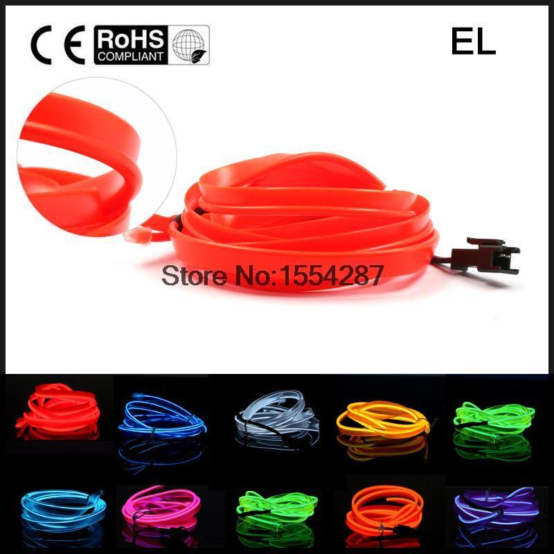 New 4 meter EL Wire Rope For Party Dance Car Decor Neon Light Glow With Controller 10 Colors Choose cigar lighter(China (Mainland))