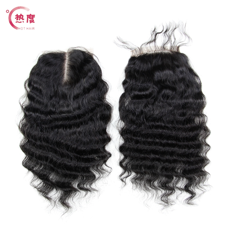 6A Peruvian Deep Wave Lace Closure Free Middle 3 Part Deep Wave Lace Closure Peruvian Lace Closure Bleached Knots Free Shiping<br><br>Aliexpress