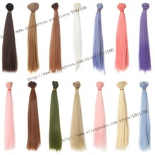 25cm*100cm Doll Wigs BJD/SD doll hair DIY High-temperature Wire Many colors Straight hair Wigs Free shipping (1)(China (Mainland))