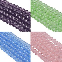 Fashion 11 Color 6MM/50PCS Candy Color Glass Beads Circular Cross Section Loose Bead For DIY Bracelets & Necklaces
