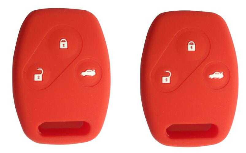 KEMANI 2 pcs/lot 3 Button Red Protecting Bag Silicone Remote shell replacements key For Honda civic(China (Mainland))