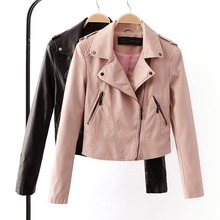 Brand Motorcycle PU Leather Jacket Women Winter And Autumn New Fashion Coat 4 Color Zipper Outerwear jacket New 2016 Coat HOT(China (Mainland))